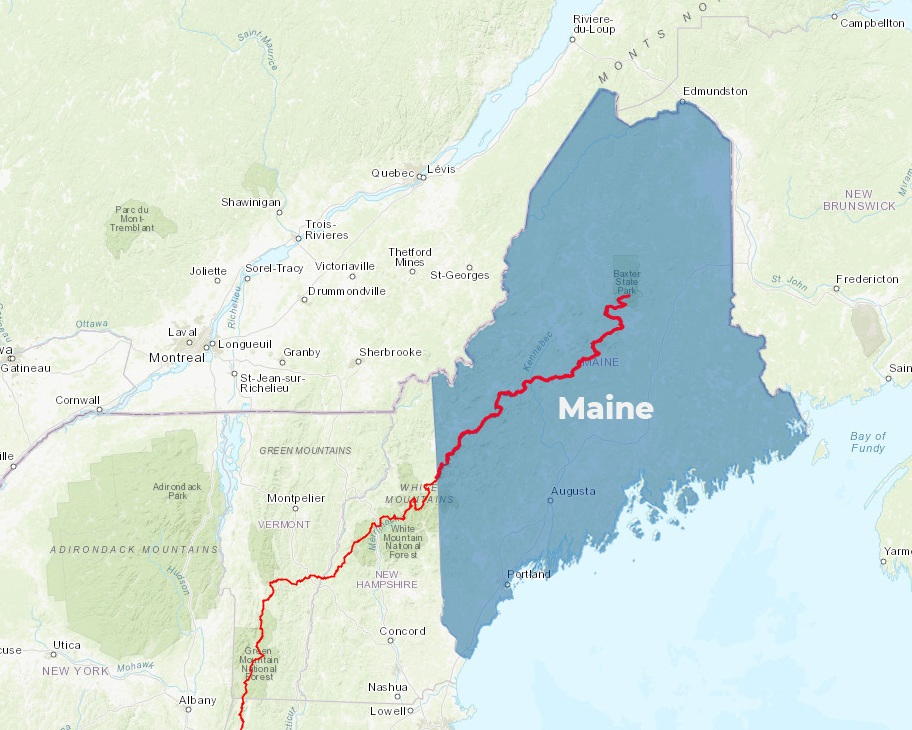 Appalachian Trail Maine Map Maine | Appalachian Trail Conservancy